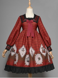 Ten Little Indians Series OP Gothic Lolita Long Sleeve Dress