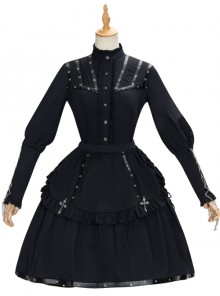 Assassinate Dawn Series Retro Military Style Gothic Lolita Shirt And Skirt Set