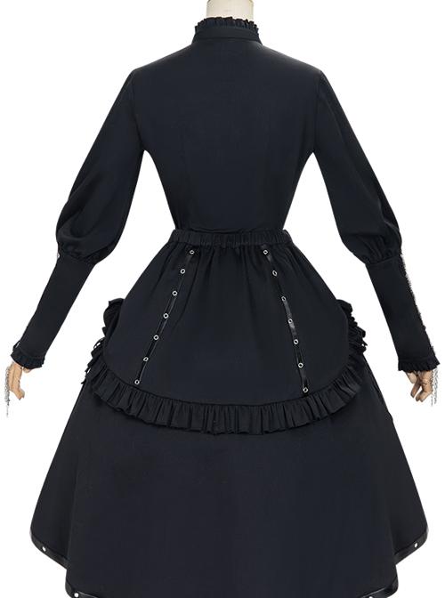 Assassinate Dawn Series Retro Military Style Gothic Lolita Shirt And Skirt Set