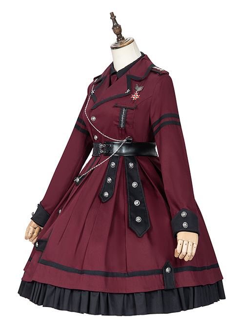 The Battle Of The Jedi Series OP Military Style Lolita Autumn Winter Long Sleeve Dress And Shirt Set