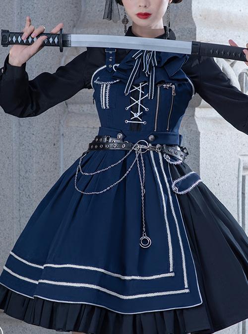 War Without War Series JSK Military Style Lolita Sling Dress