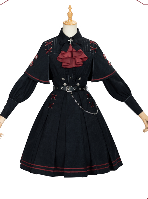 Punishment Execution Officer Series Military Style Gothic Lolita Shirt And Skirt Set