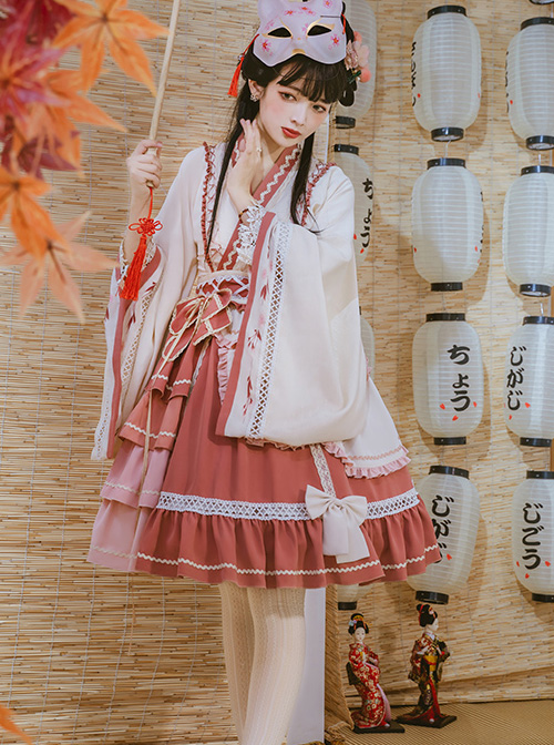 Cherry Snow Cheese Series OP Chinese Style Classic Lolita Long Sleeve Dress