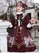 Immortal Bottle Series OP Retro School Lolita Long Sleeve Dress