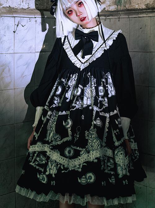 Wolf Detective Series OP Gothic Lolita Long Sleeve Dress