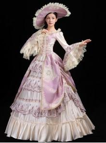Pink And Light Champagne Retro Elegant Palace Style Lolita Prom Dress