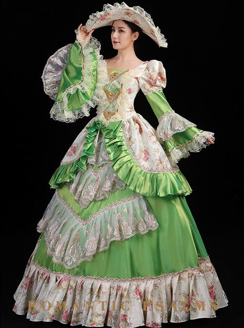 Ruffle Palace Style Long Sleeve Lolita Prom Dress