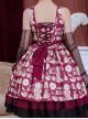 Roast Coffee Series JSK Printing Sweet Lolita Sling Dress