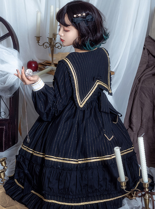 Mercury Daytime Series OP Dark Gothic Lolita Long Sleeve Dress