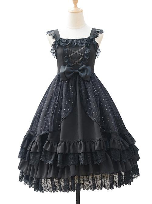 Rose Maiden Series JSK Pure Color Classic Lolita Sling Dress