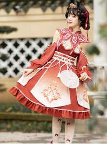 Phoenix Sounds Series JSK Chinese Style Retro Sweet Lolita Dress
