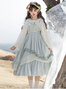 The Miss Of Cloud Trees Series JSK Light Blue Classic Lolita Sling Dress