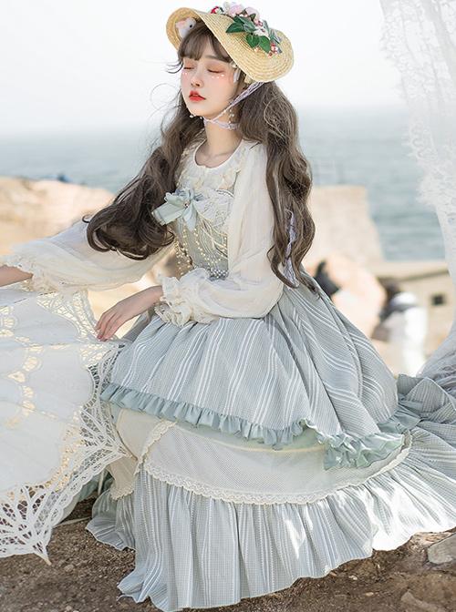 The Miss Of Cloud Trees Series JSK Light Blue Classic Lolita Sling Dress