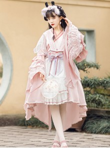 Cherry Blossom Festival Series OP Chinese Style Element Sweet Lolita Long Sleeve Dress