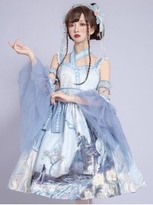 Romantic Dream In Garden Series JSK II Classic Lolita Retro Chinese Style Printing Dress