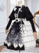 Eye Of Red Heart Series OP Retro Stitching Gothic Lolita Long Sleeve Dress