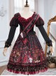 The Queen Of Hearts Series OP Gothic Lolita Printing Long Sleeve Dress