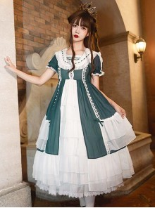 The Forest Of Morning Mist Series OP Classic Lolita Short Sleeve Dress