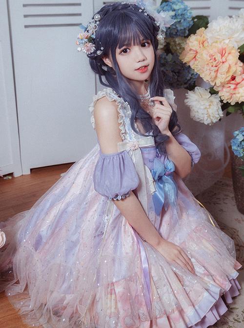 Doggy Doughnut Series JSK Sweet Lolita High Waist Sling Dress