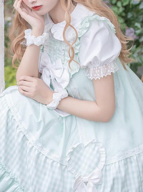 Meet The Forest Series High Waist Bowknot Sweet Lolita Sling Dress
