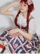Strawberry Afternoon Tea Series JSK High Waist Sweet Lolita Sling Dress Design 1