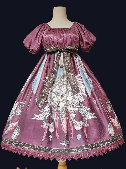 Distant Bells Series OP High Waist Classic Lolita Short Sleeve Dress