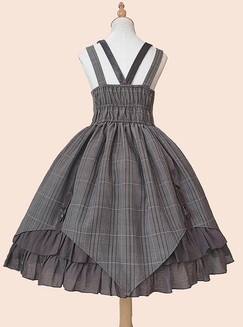Slaughter Series JSK Stripe Printing Punk Lolita Sling Dress