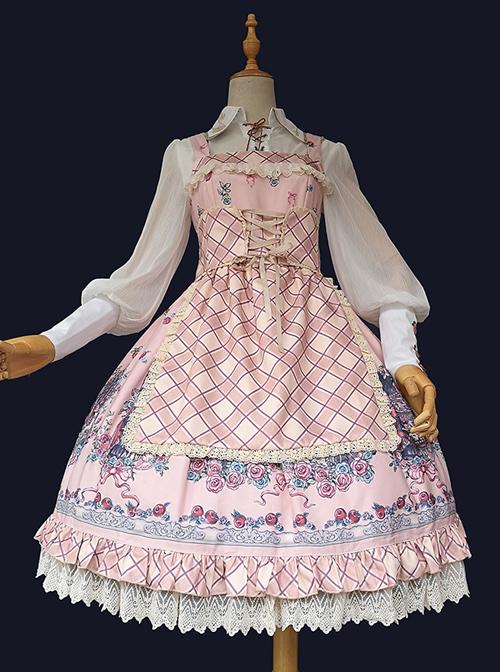 Little Red Riding Hood Series Fairy Tale Printing Sweet Lolita Sling Dress