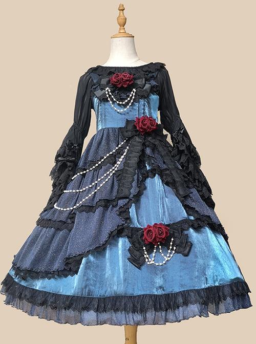 Deep-Sea Mermaid Series JSK Elegant Classic Lolita Sling Dress