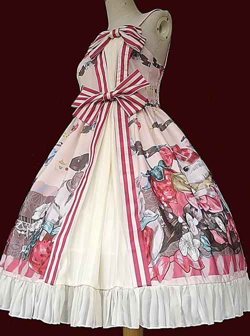Hamster's Gift Series JSK Printing Bowknot Sweet Lolita Sling Dress