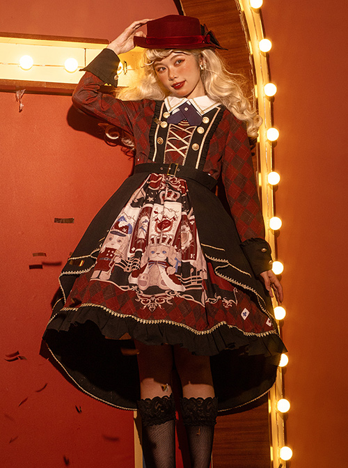 Puppy Band Series Gorgeous Palace Style School Lolita Long Sleeve Dress