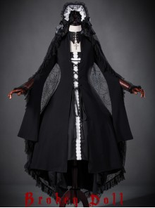 Black Mother Abbess Gothic Lolita Nuns Robe