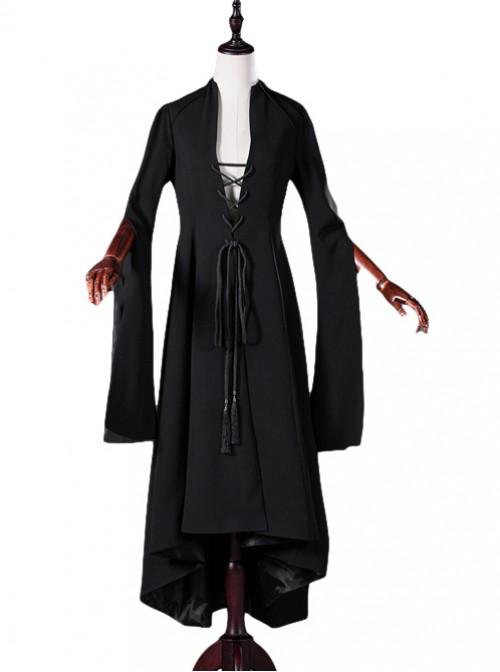 Black Mother Abbess Gothic Lolita Nuns Robe