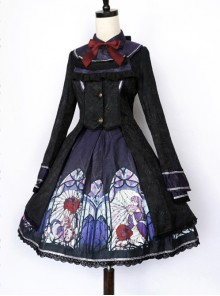 Beauty The Rose Lolita Purple Windbreaker