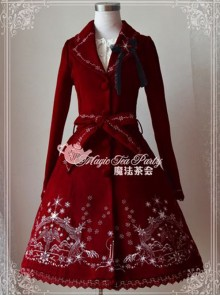 Lolita Wine Red The Mass Of Winter Embroidery Overcoat
