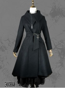 Cold Winter Black Gothic Lolita Womens Woolen Coat