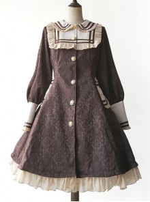 College Style Doll Collar Brown Lolita Wind Coat