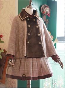 Beck Street's Dense Fog Series Detective Style Khaki Classic Lolita Cloak
