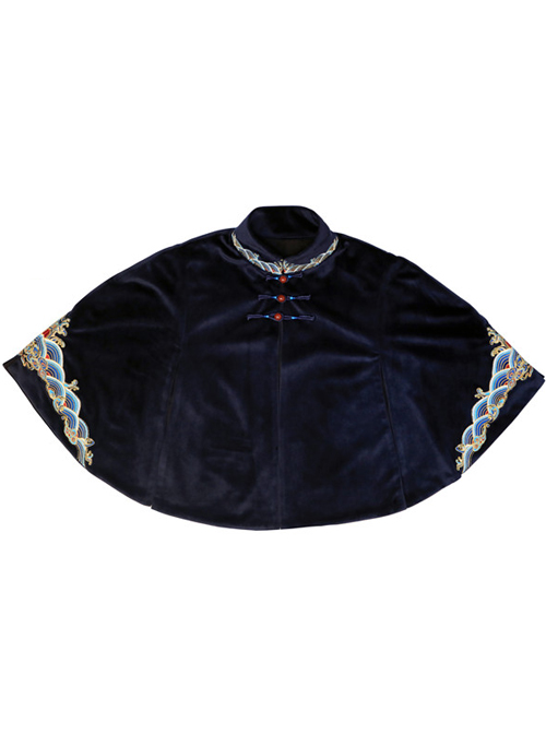 Chinese Style Embroidery Classic Lolita Short Cloak
