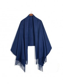 Pure Wool Pure Color Long Dual-use Scarf Shawl