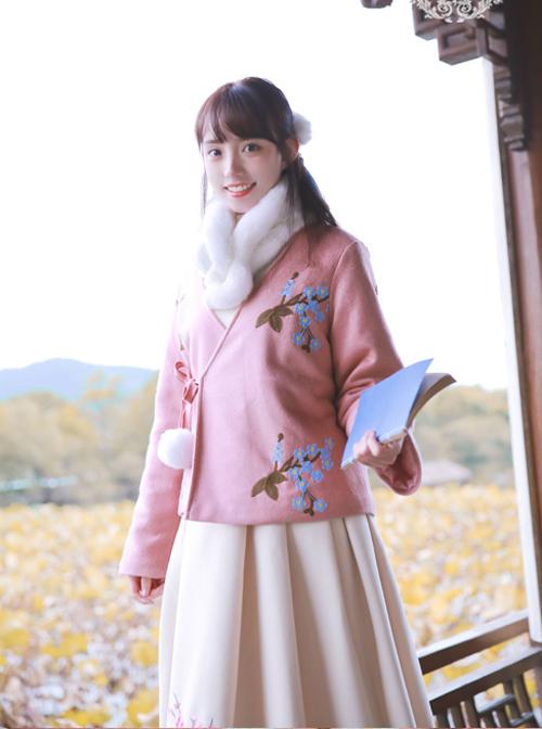 Chinese Style Retro Plum Blossom Embroidery Lolita Coat