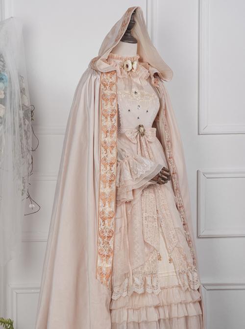 Velvet Pure Color Classic Lolita Cloak