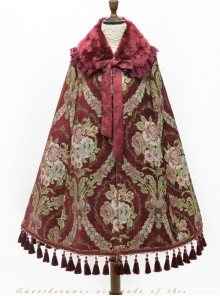 Jacquard Windbreak Gorgeous Retro Classic Lolita Cloak