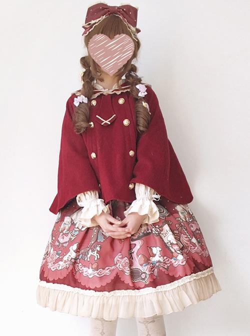 Cute Bear Ears Sweet Lolita Cloak