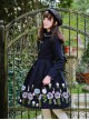 Miss Point Retro Wool Embroidery Cute Doll Collar Lolita Navy Blue Coat