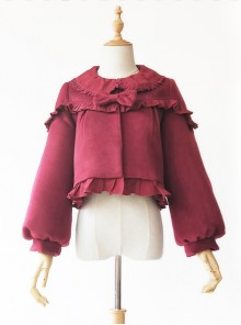 Cute Little Puff Series Classic Lolita Short Style Coat