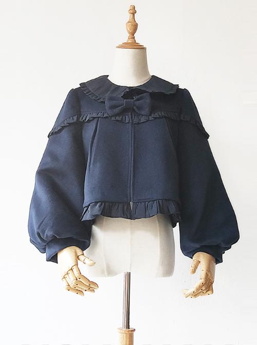 Cute Little Puff Series Classic Lolita Short Style Coat
