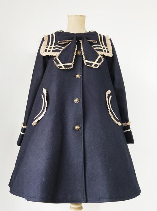 Bowknot Navy Collar School Lolita Coat