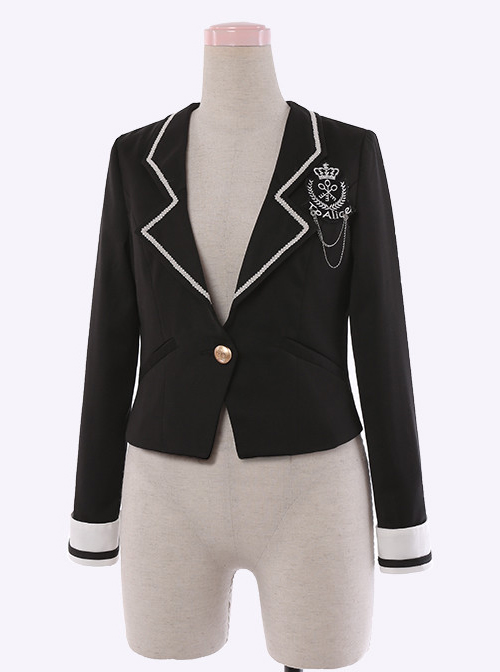 British Style Slim Suit Lolita Coat