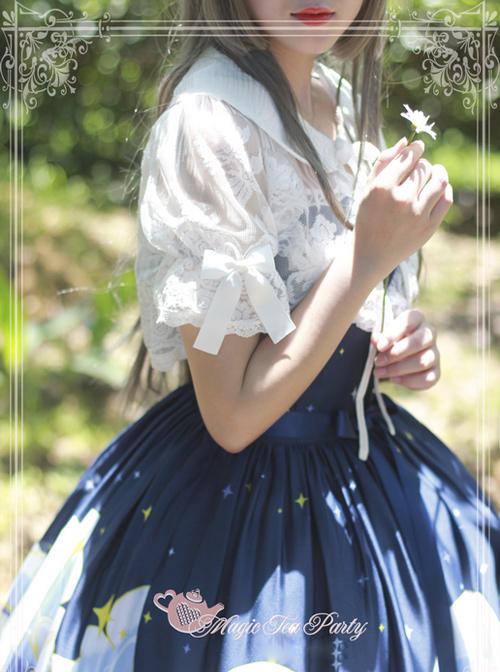 Magic Tea Party Summer Fragrance Series White Lace Lolita Small Shawl